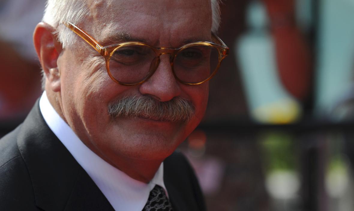 Režisér Nikita Michalkov na filmovém festivalu v Karlových Varech (2010)