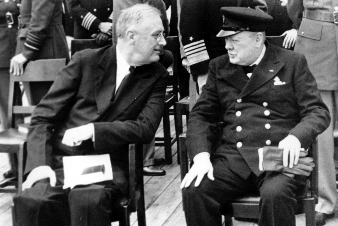 Franklin Delano Roosevelt a Winston Churchill