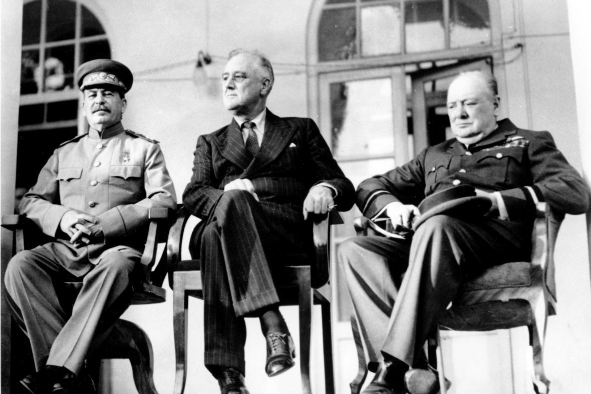 Josef Stalin, Franklin D. Roosevelt a Winston Churchill