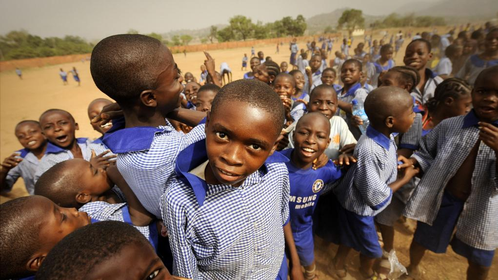 Žáci nedaleko nigerijské Abuji