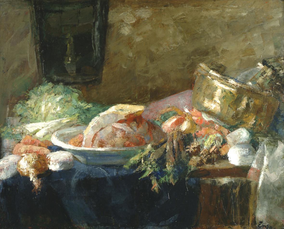 James Ensor / Zátiší s kachnou, 1880