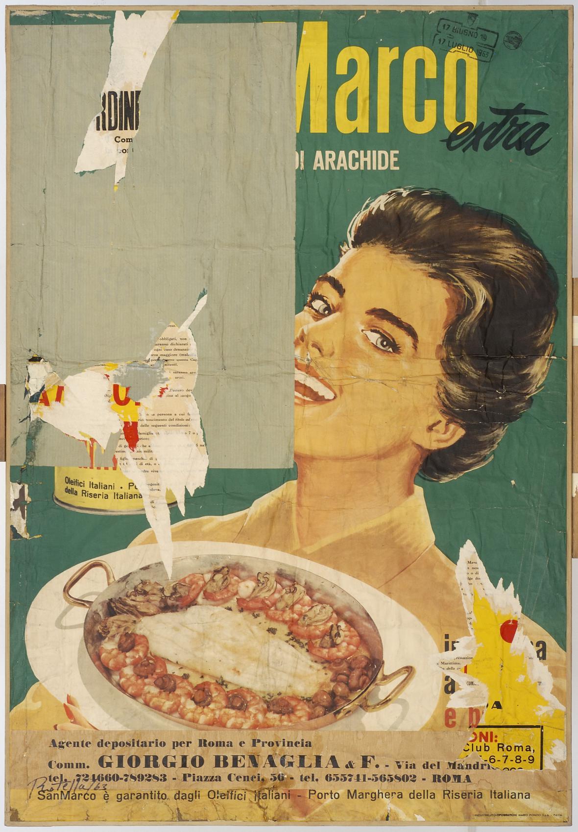 Mimmo Rotella / Araschidina, 1963