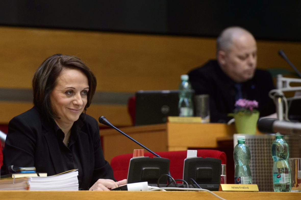 Primátorka Adriana Krnáčová na zastupitelstvu hlavního města