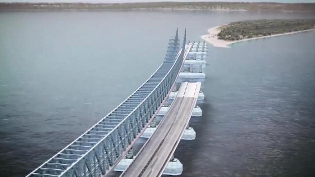 Plánovaný most mezi Krymem a pevninským Ruskem