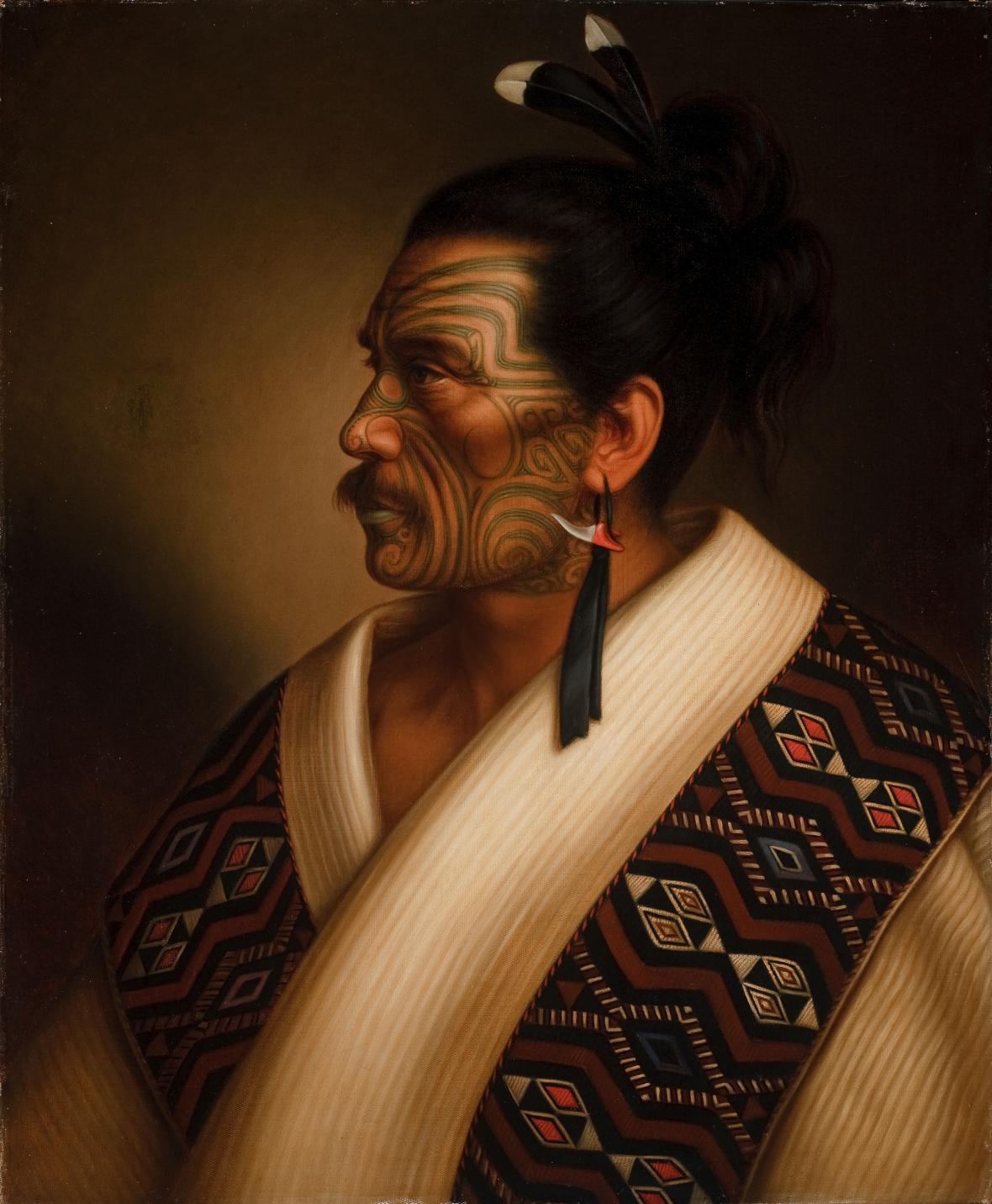 Gottfried Lindauer / Kamariera Te Hau Takiri Wharepapa, 1895