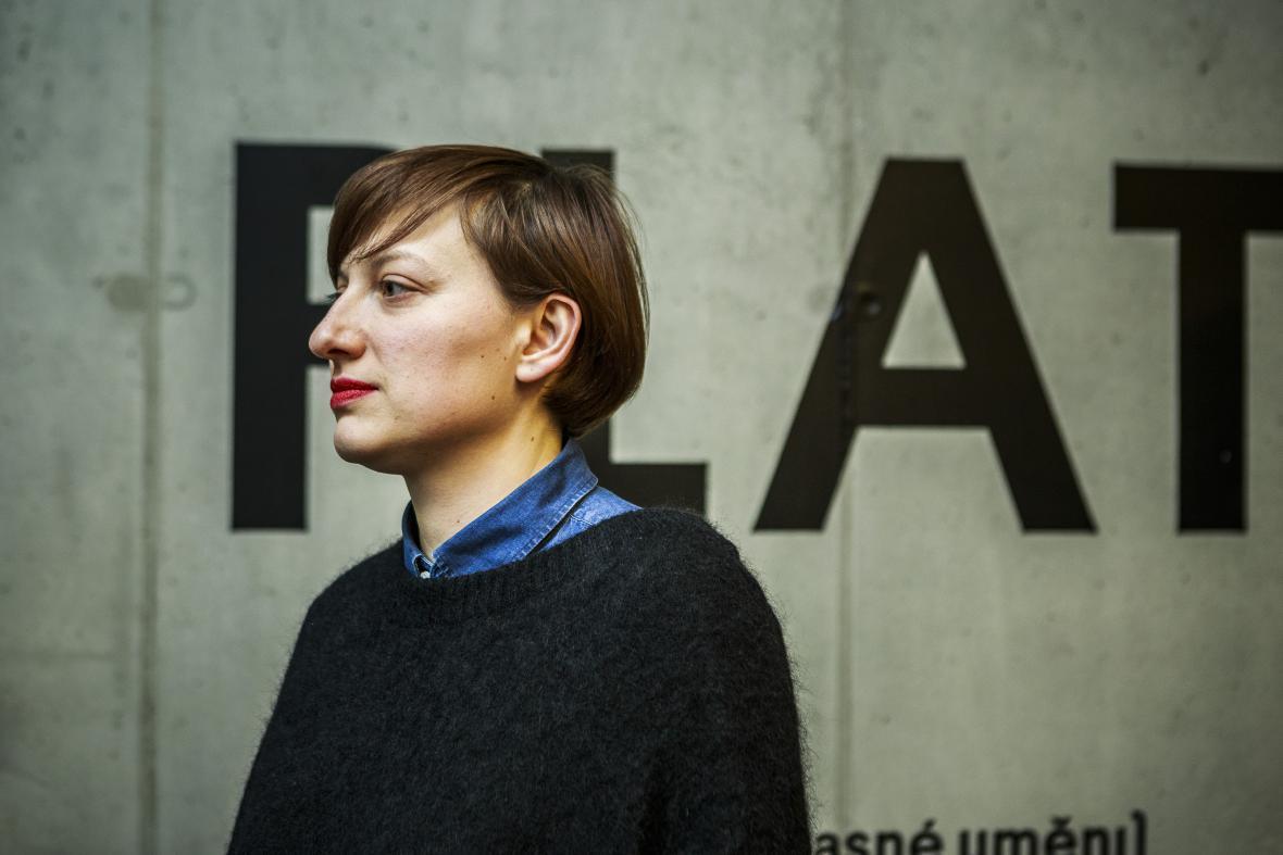 Linda Dostálková v galerii PLATO