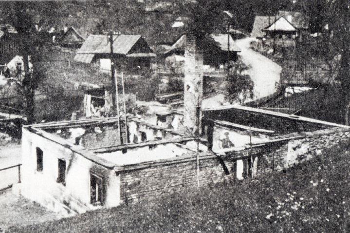 Vypálené stavení v Prlově - čp. 35 dům Juráňů