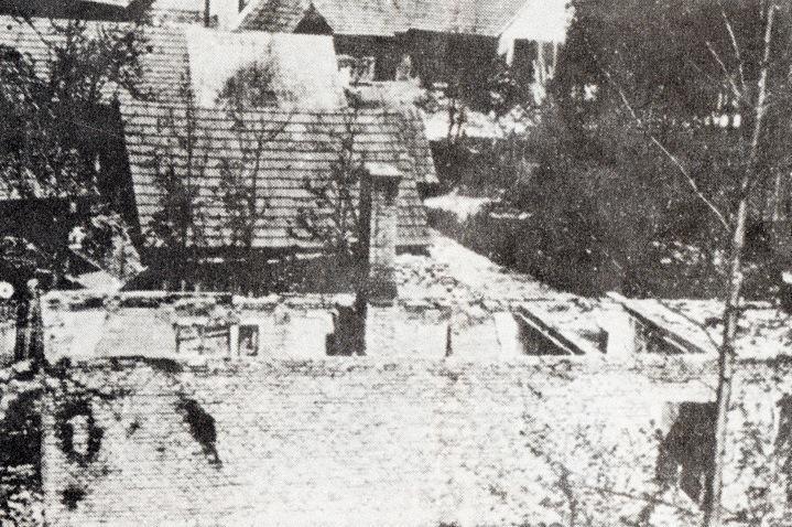 Vypálené stavení v Prlově - čp. 11 Trlicovi
