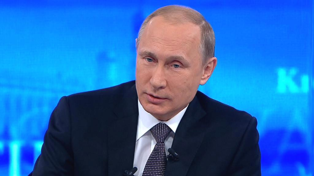 Vladimir Putin odpovídá na dotazy občanů