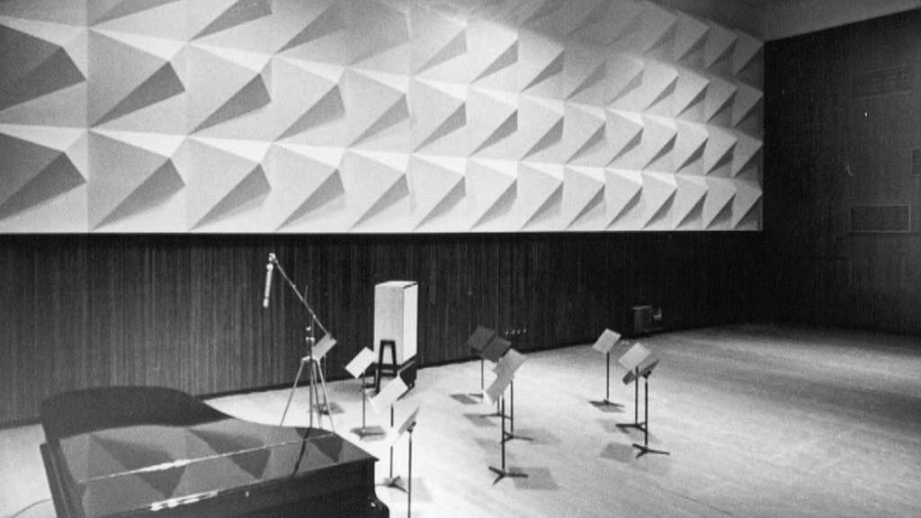 Archivní snímek rozhlasového studia