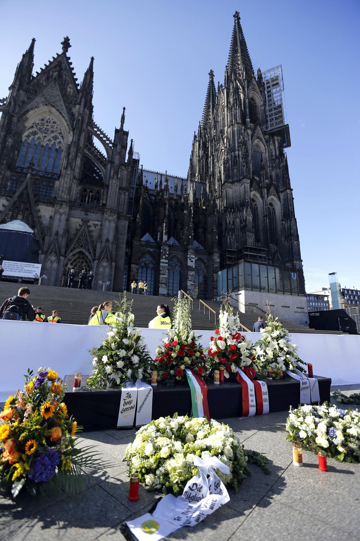Smuteční věnce v Kolíně nad Rýnem