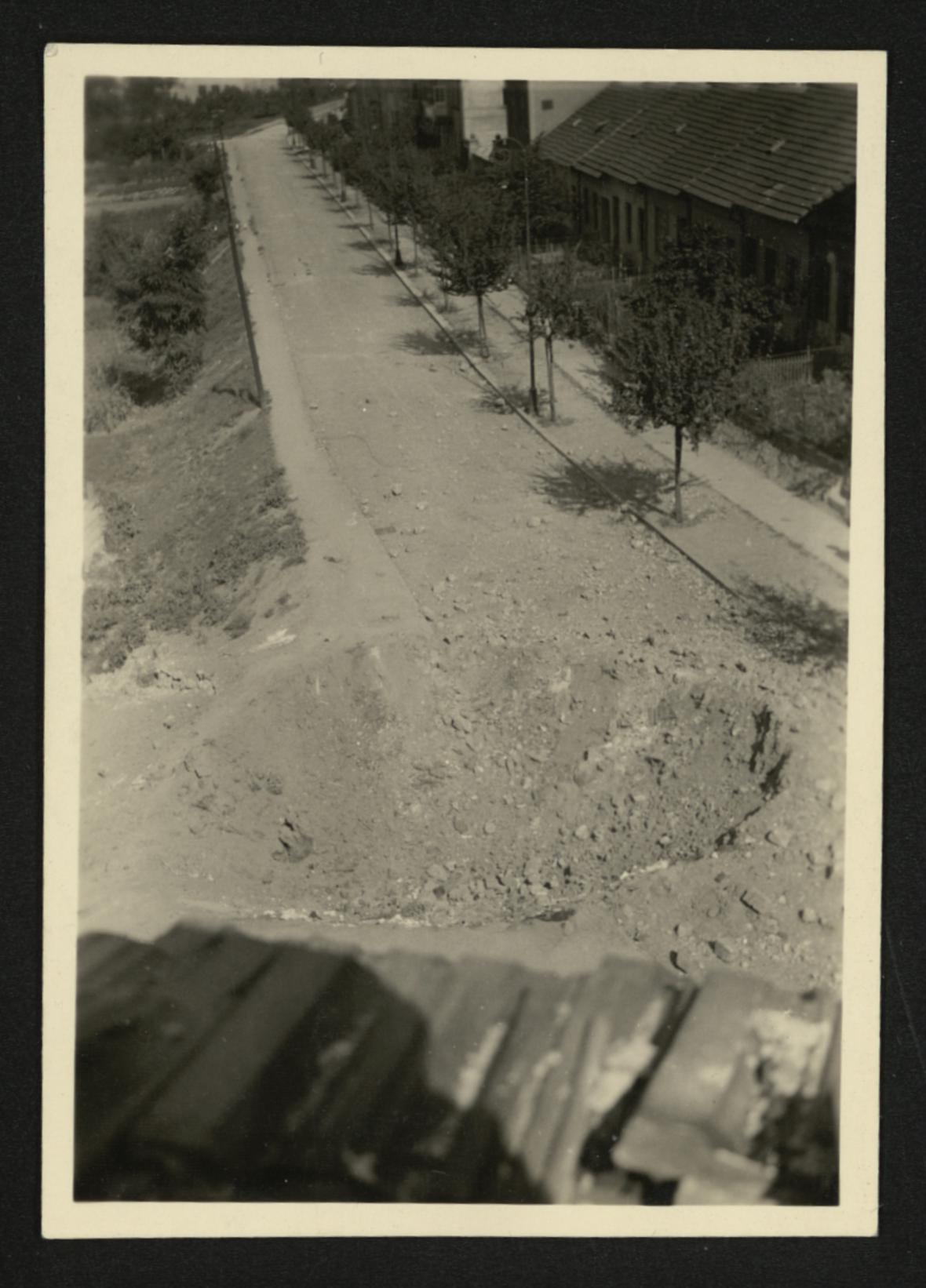 Brno po bombardování (ulice Viniční)