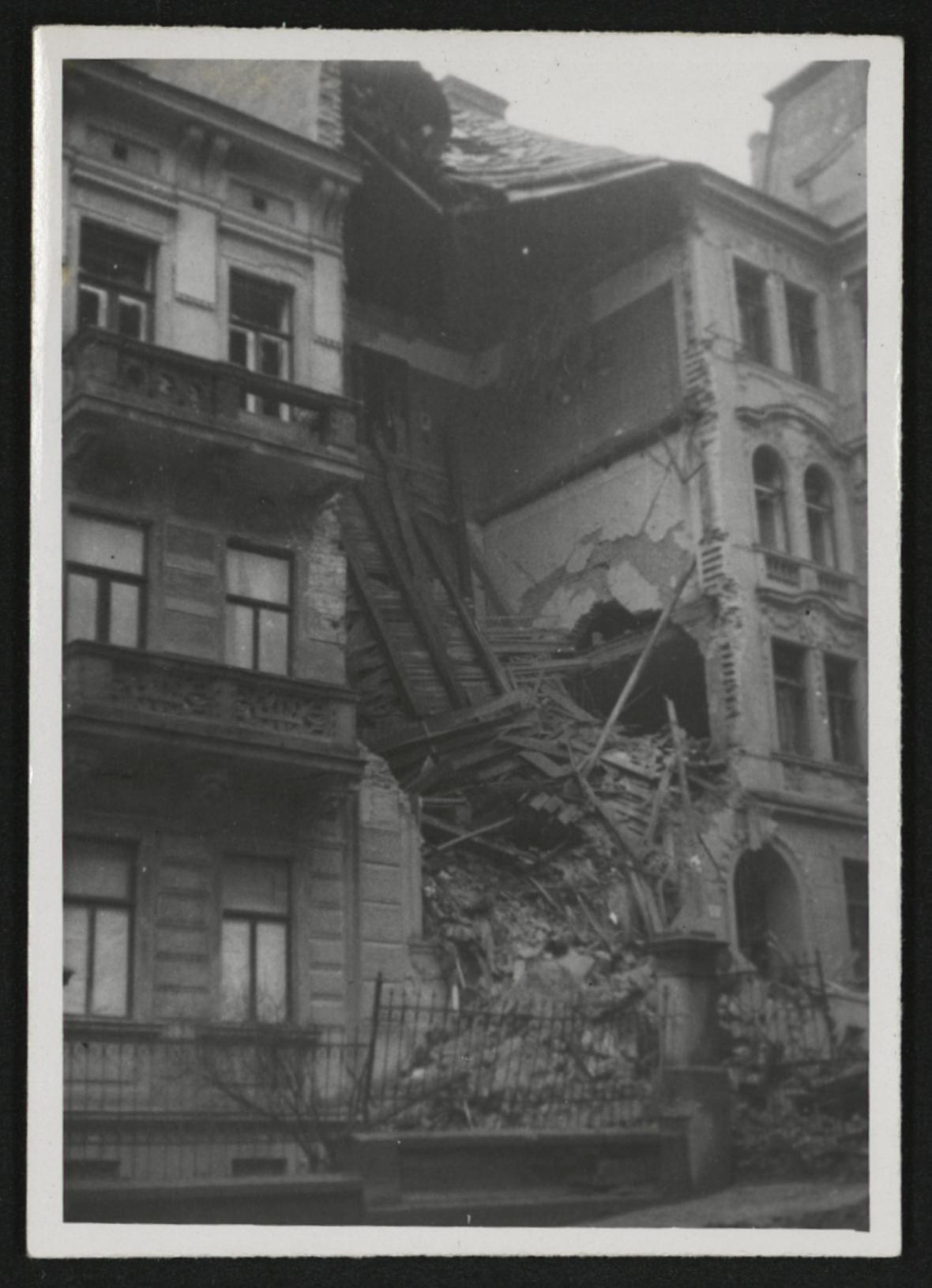 Brno po bombardování