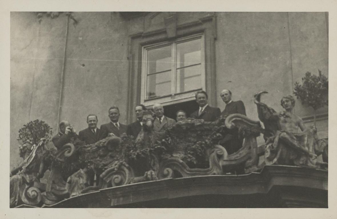 První poválečná návštěva prezidenta Beneše v Brně