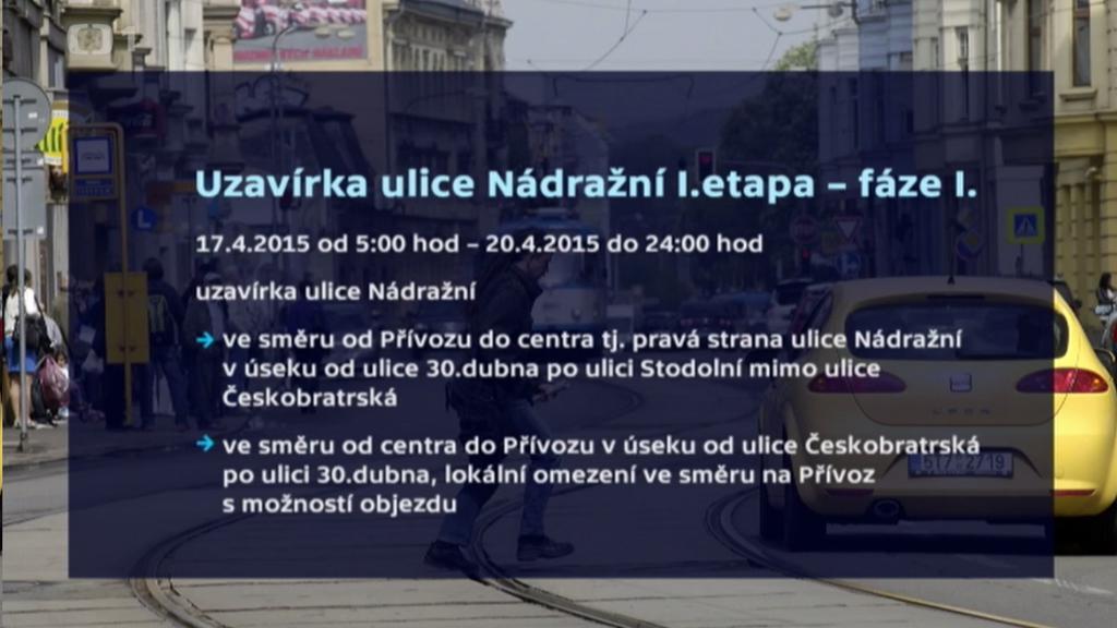 Rekonstrukce ulice Nádražní v Ostravě