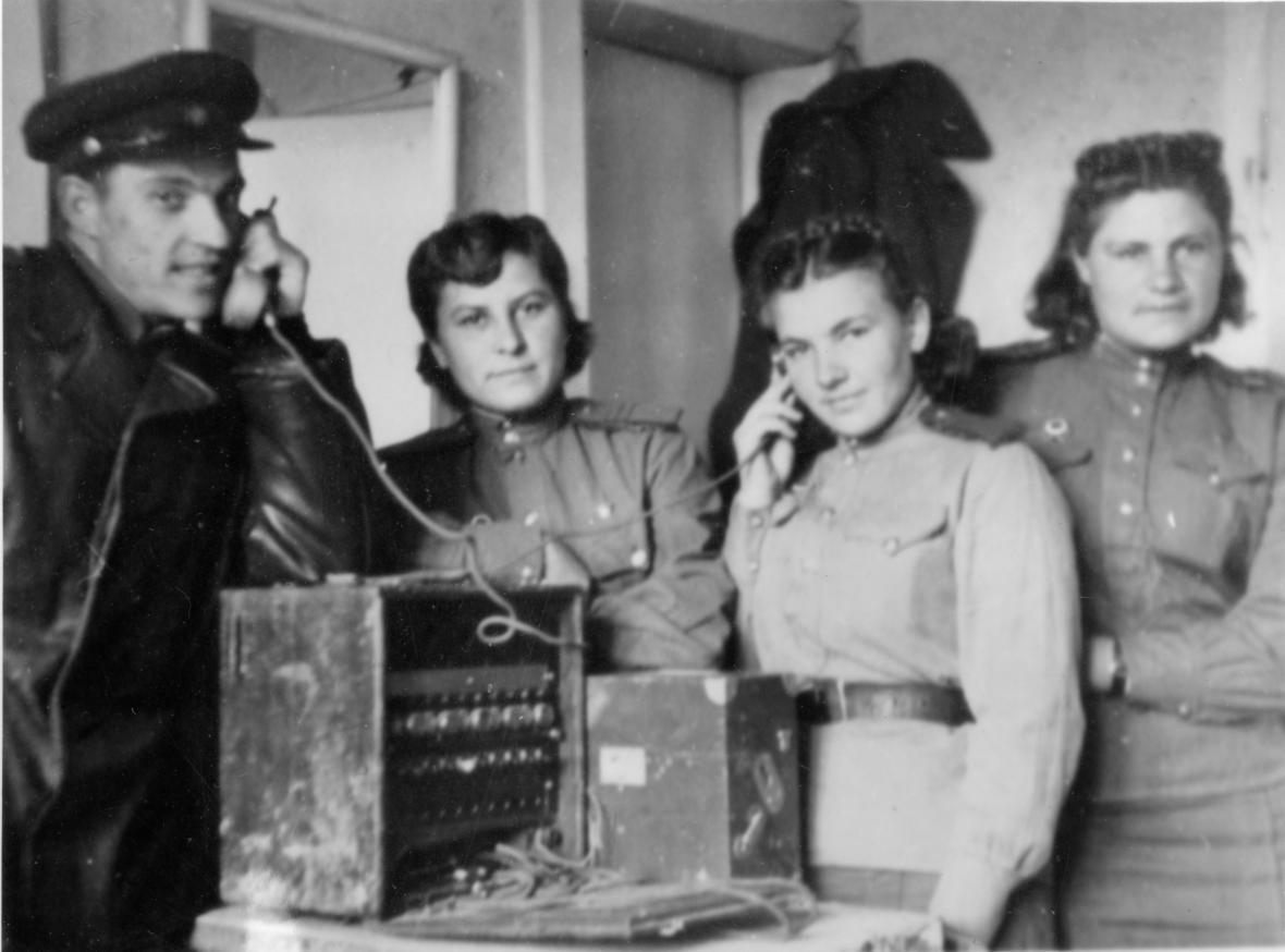 Polní telefonní ústředna Rudé armády ve Zlíně (květen 1945)