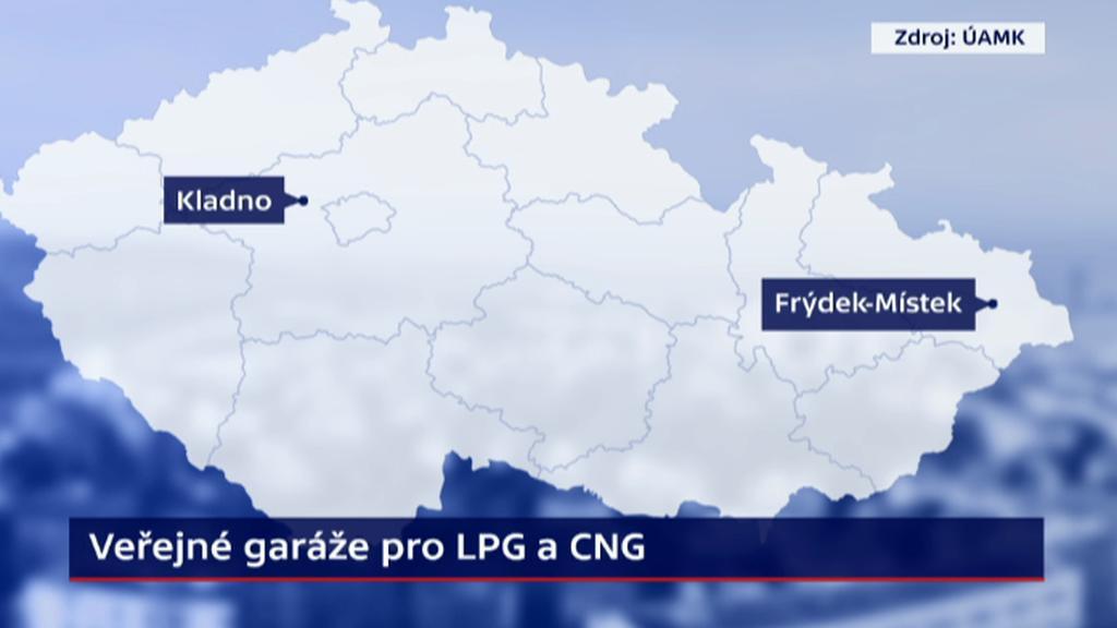 Kde jsou v Česku garáže pro auta na plyn?