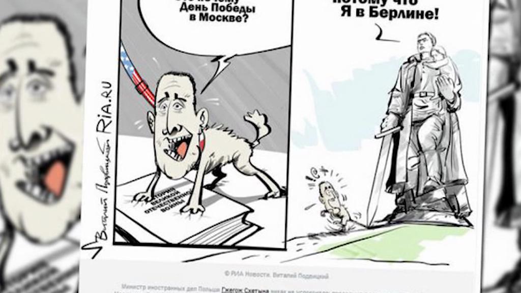 Karikatura polského ministra zahraničí