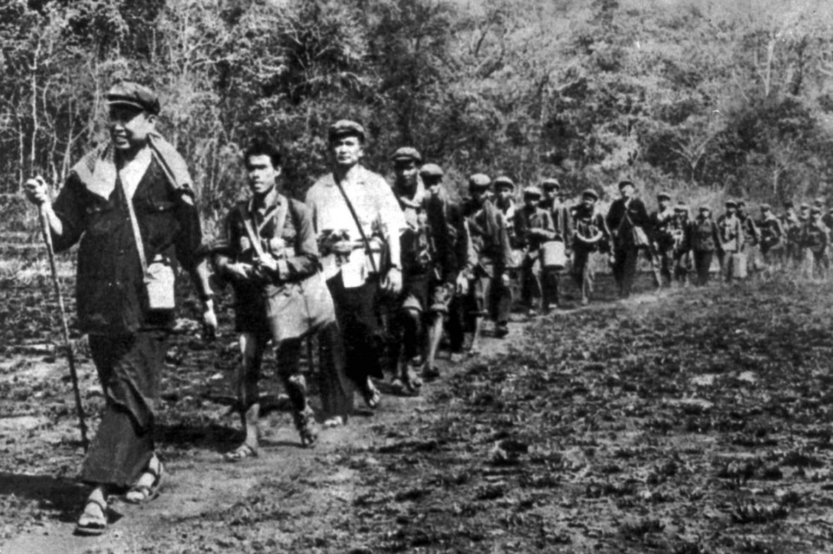 Pol Pot v čele Rudých Khmerů