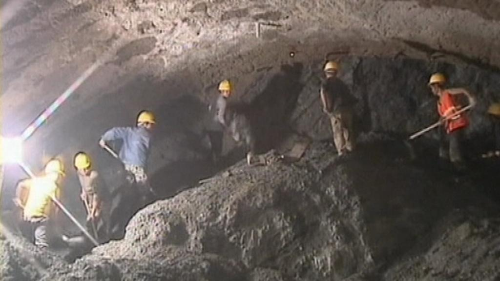 Stavba tunelu v provincii Jün-nan