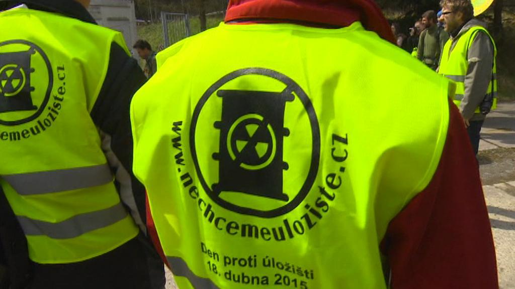 Protest proti úložišti jaderného odpadu