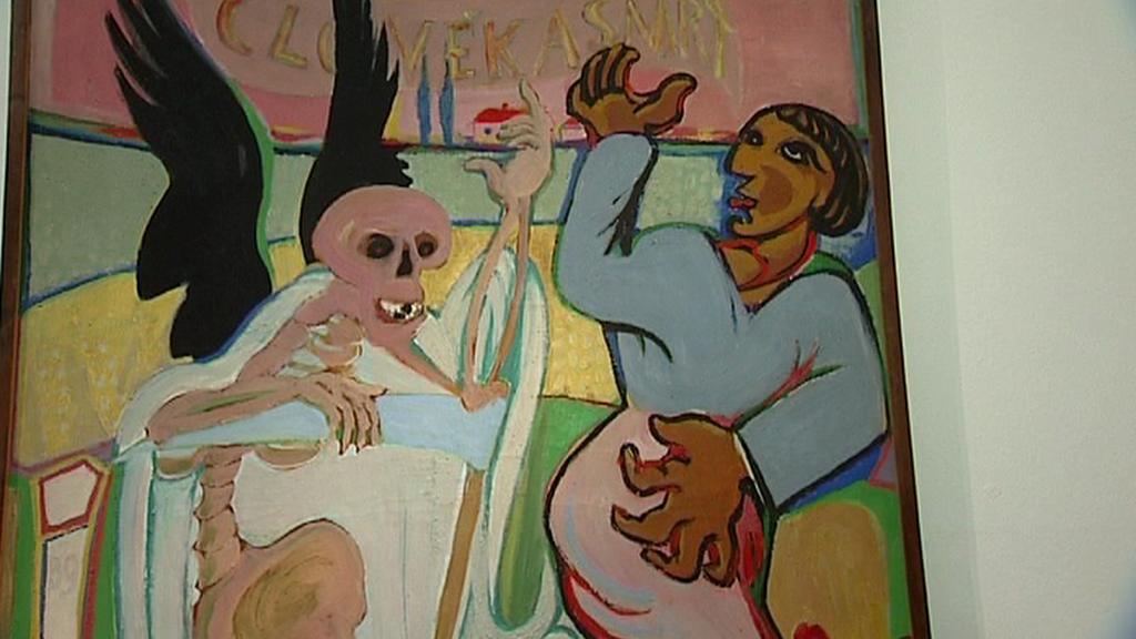 Obraz Člověk a smrt od Emila Filly