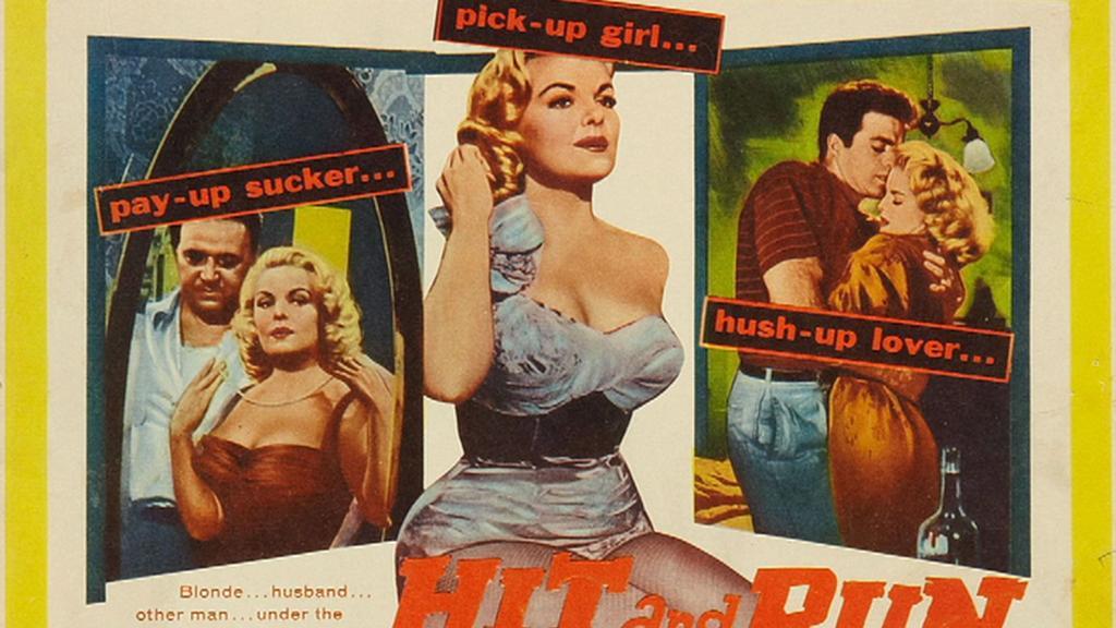 Plakát Haasova filmu Hit and Run (Srazit a ujet) z roku 1957