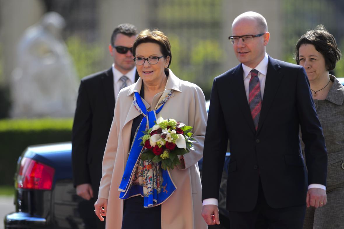 Premiér Bohuslav Sobotka a polská premiérka Ewa Kopaczová