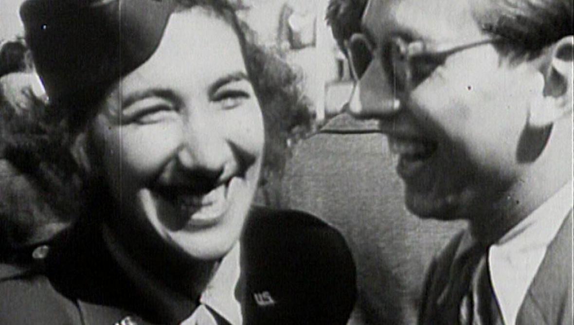 Radost v ulicích Plzně po osvobození v květnu 1945