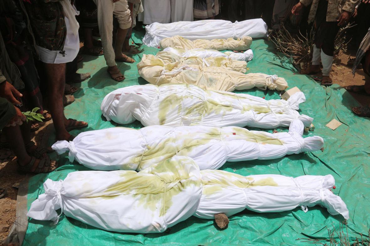 Oběti bojů v Jemenu
