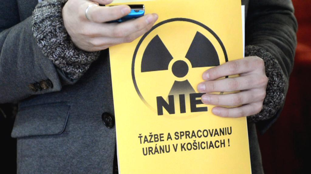 Protesty proti těžbě uranu na Slovensku