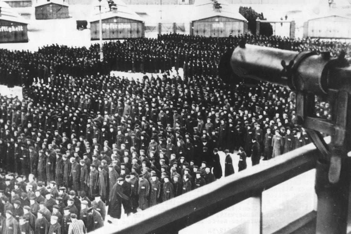 Nástup v koncentračním táboře Sachsenhausen