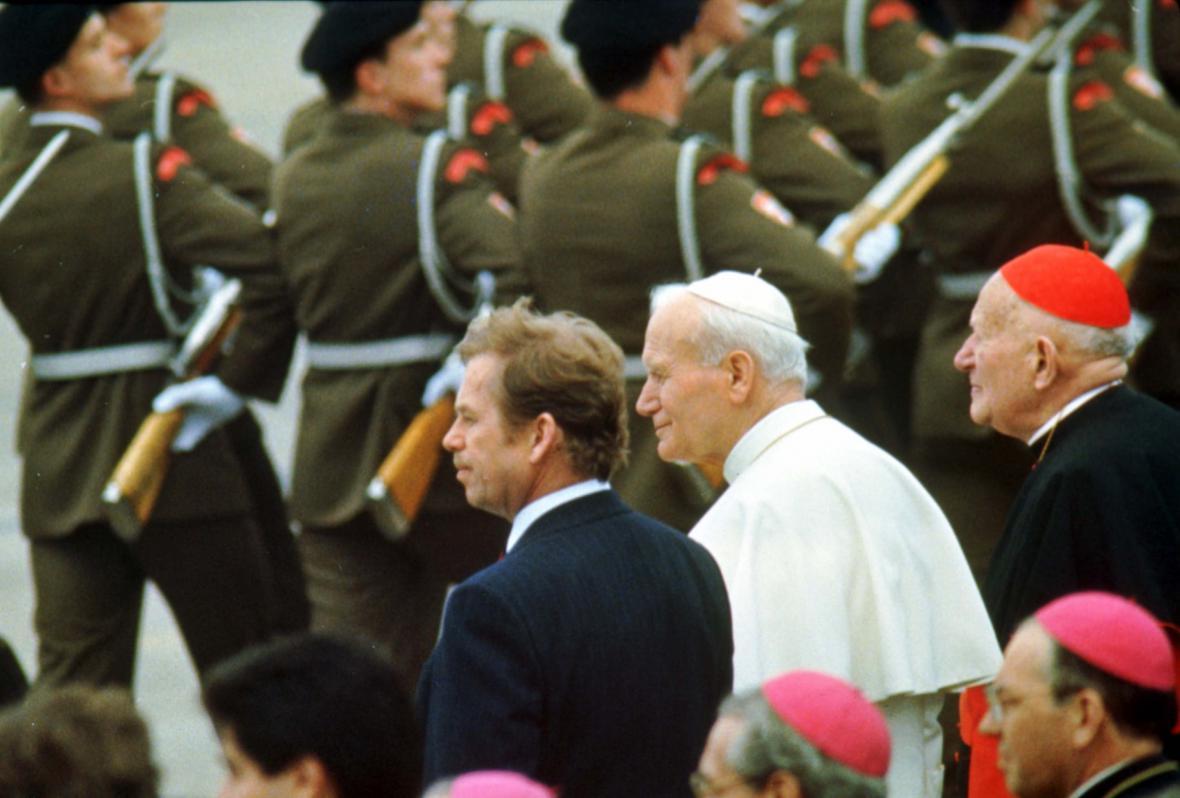 Václav Havel, Jan Pavel II. a kardinál Tomášek