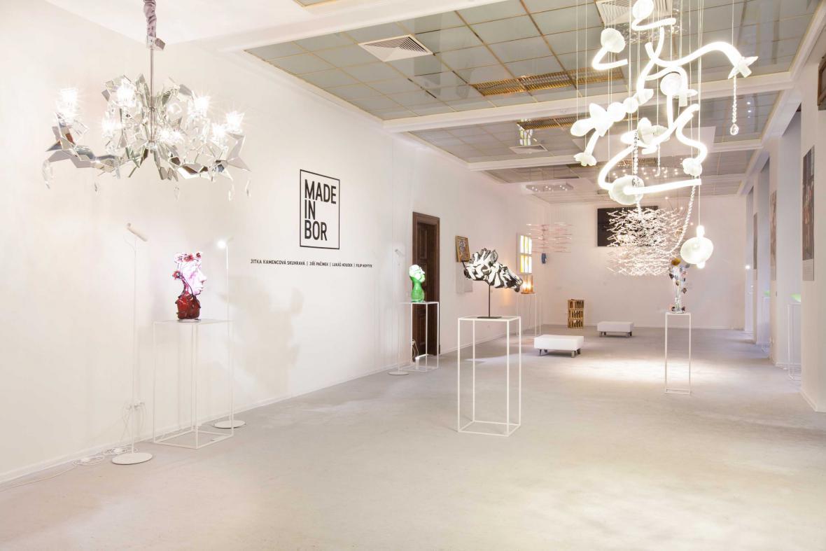 Instalace Made in Bor vol. II na výstavě Sklo/Glass (ZIBA muzeum)