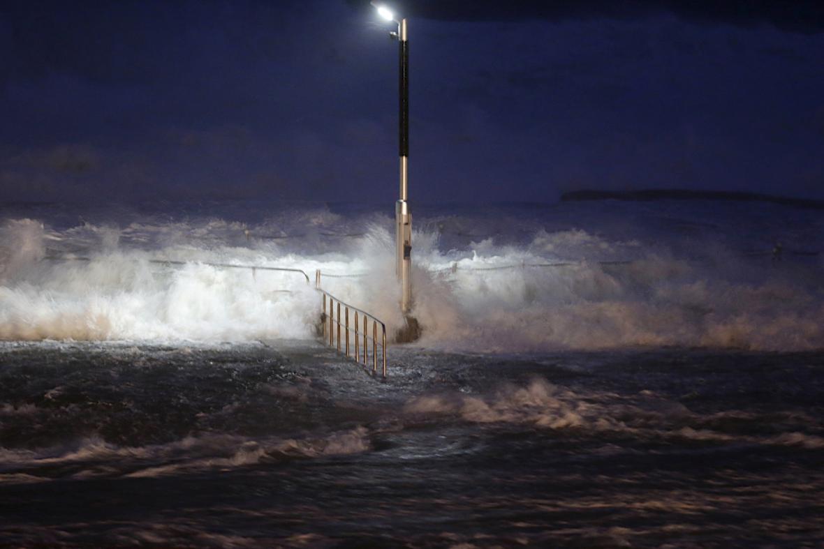 Větrná bouře v Austrálii