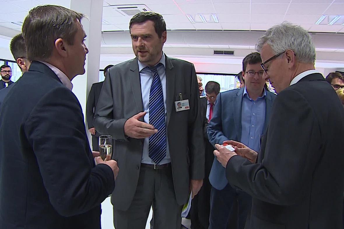 Slavnostní otevření nové výrobní haly ABB v Brně