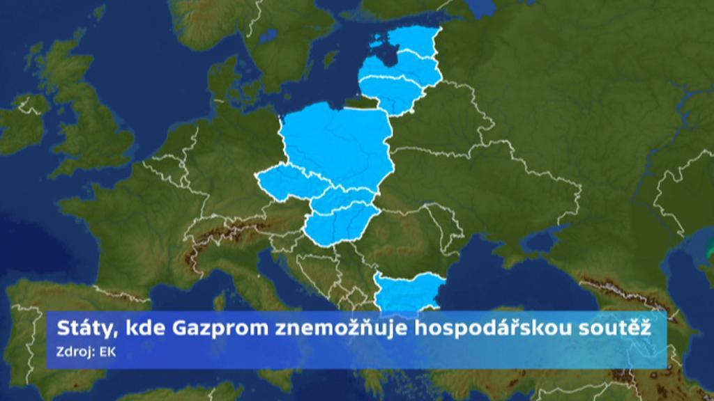 Státy, kde Gazprom znemožňuje hospodářskou soutěž