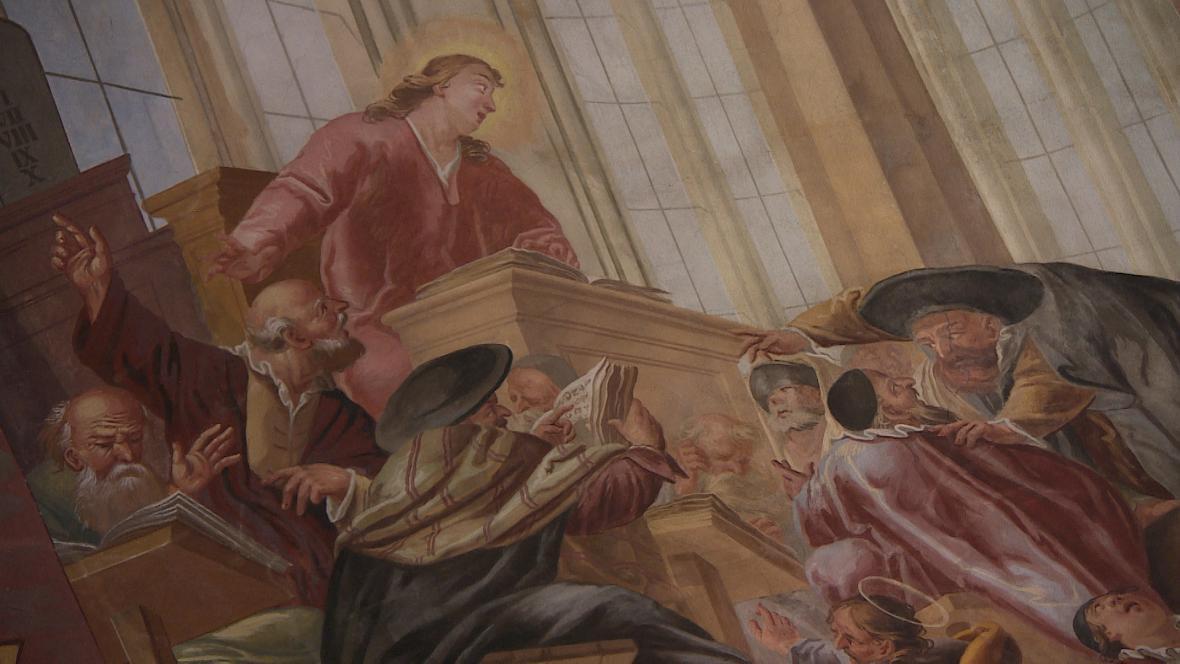 Freska v Broumovském klášteře