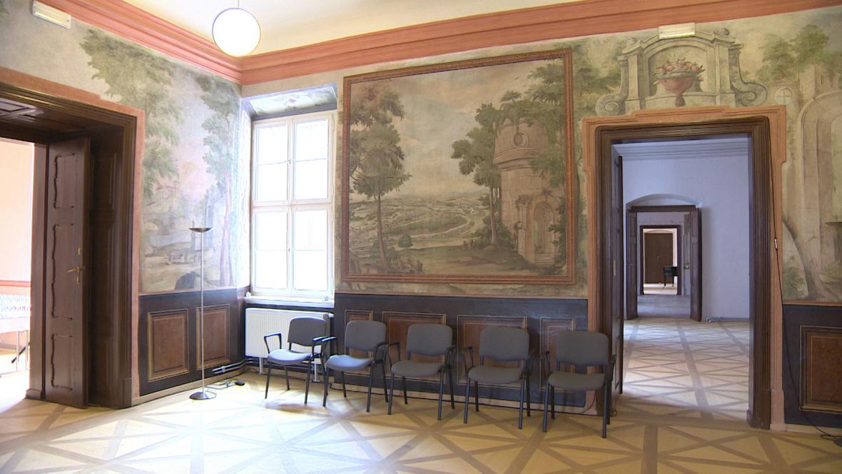 Opravené interiéry broumovského kláštera