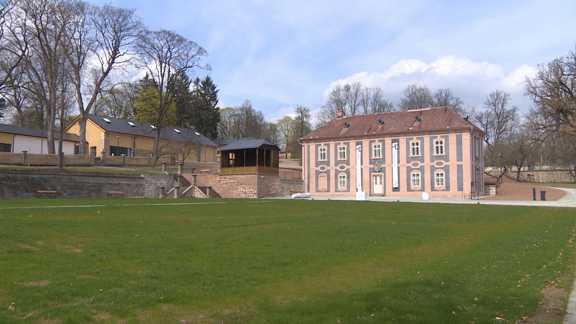 Zahrada broumovského kláštera po opravě