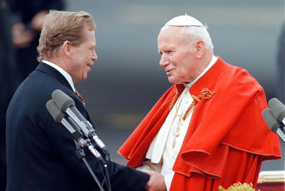 Václav Havel a papež Jan Pavel II.