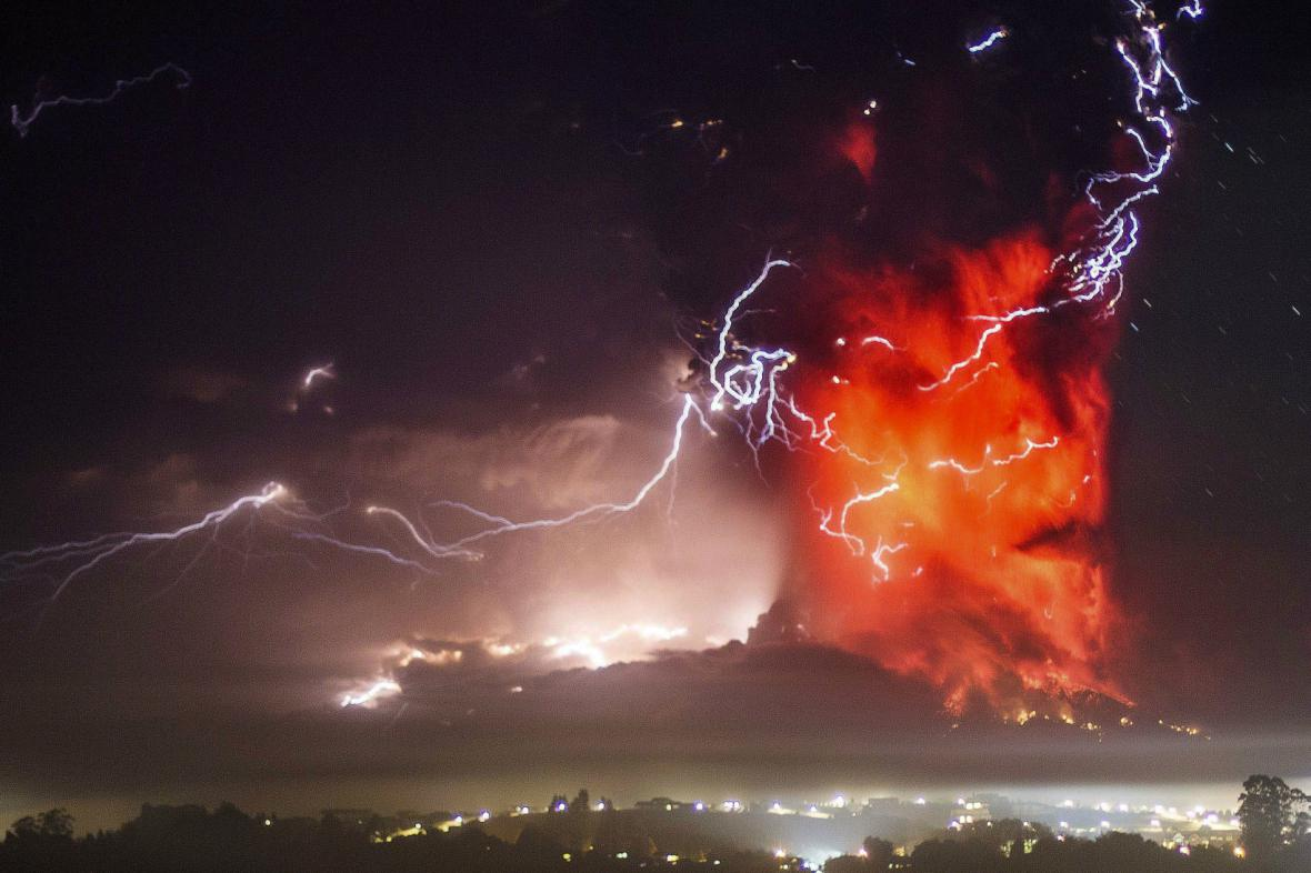 Erupce sopky Calbuco
