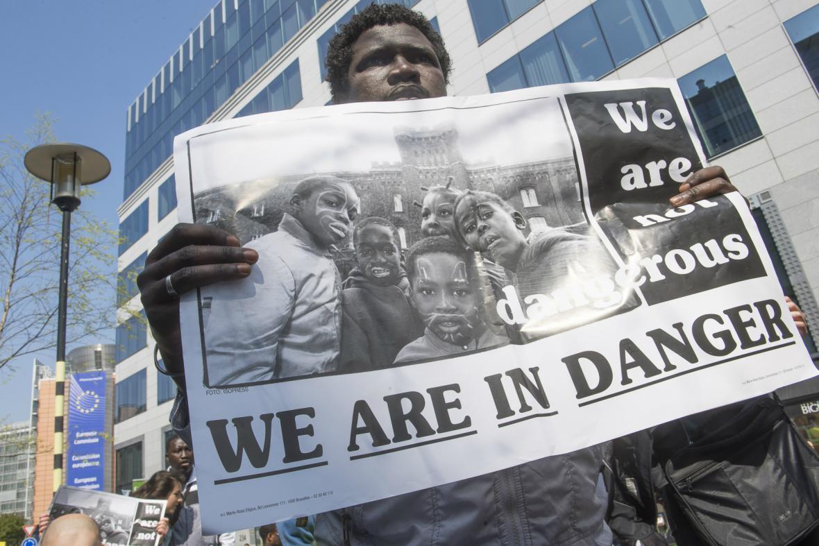 Protest před summitem o uprchlících