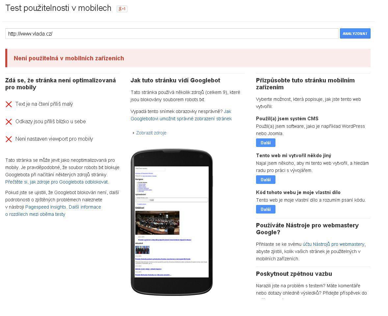 Google upřednostní ve vyhledávání mobilní weby