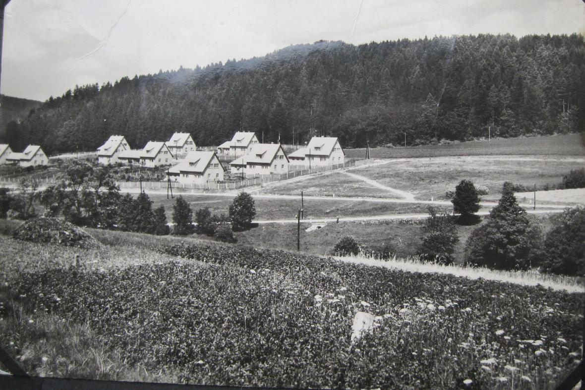 Javoříčko v roce 1951 po novém vybudování