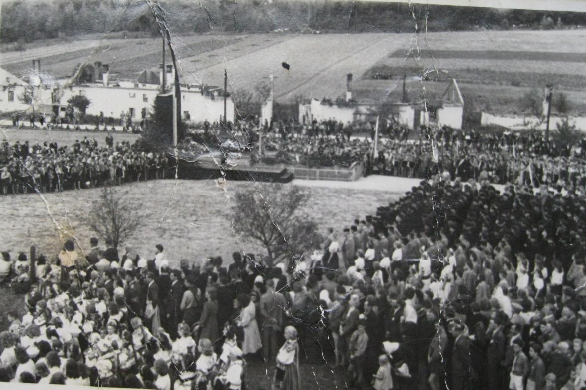 Národní pouť v Javoříčku 23. září 1945