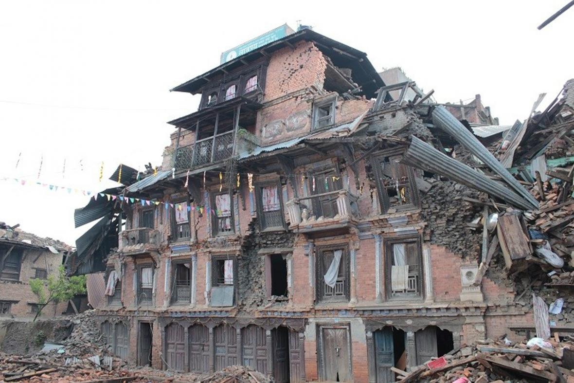 Zdevastované Káthmándú