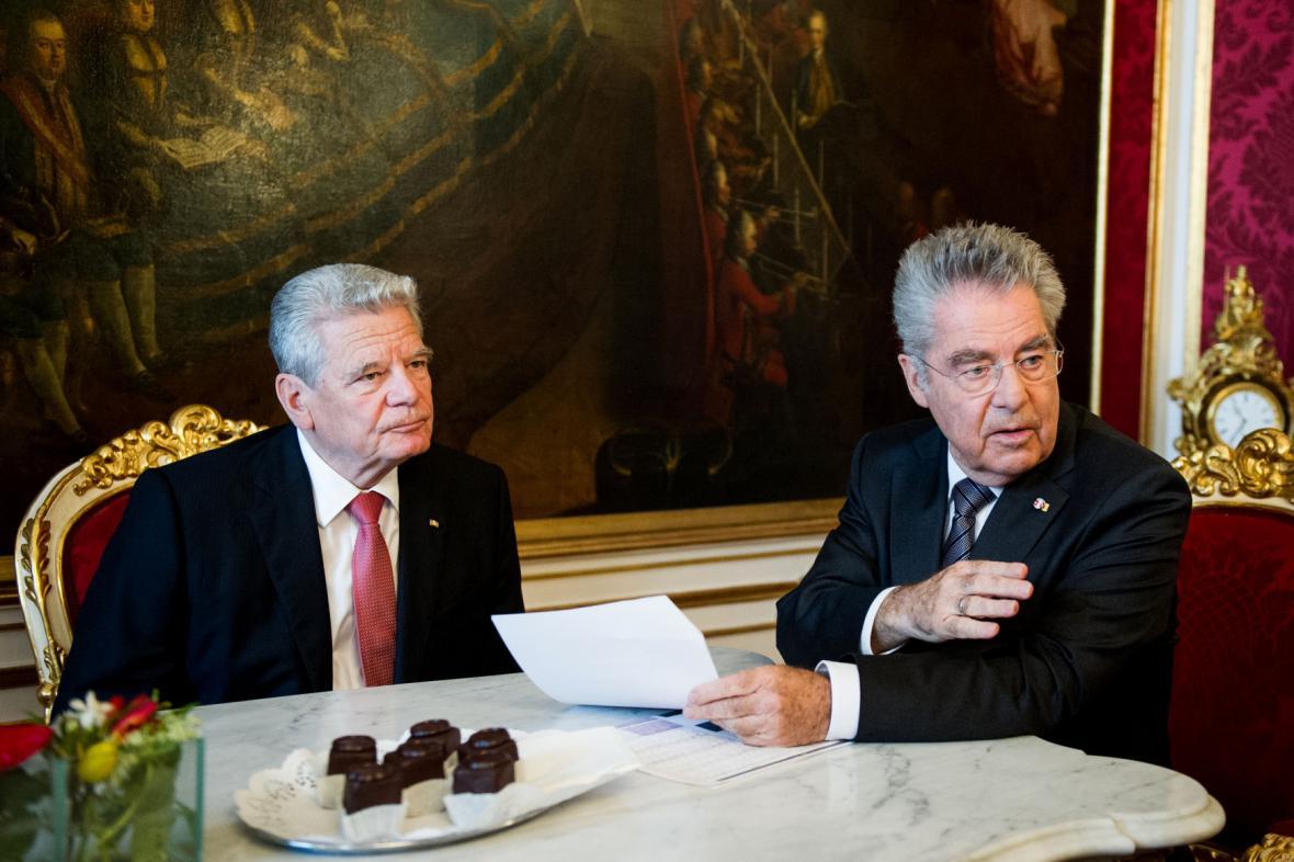 Prezidenti Německa a Rakouska Joachim Gauck a Heinz Fischer