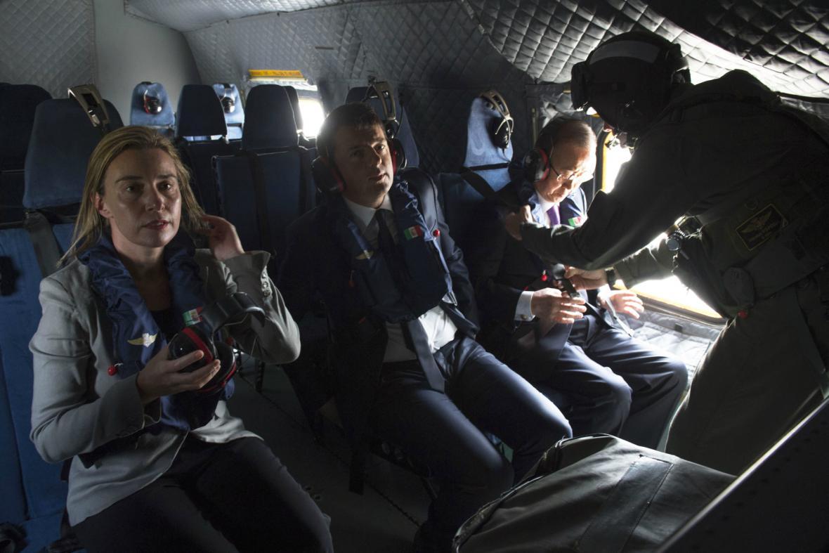 Pan Ki-mun, Renzi a Mogheriniová osobně zkontrolovali situaci ve Středozemí