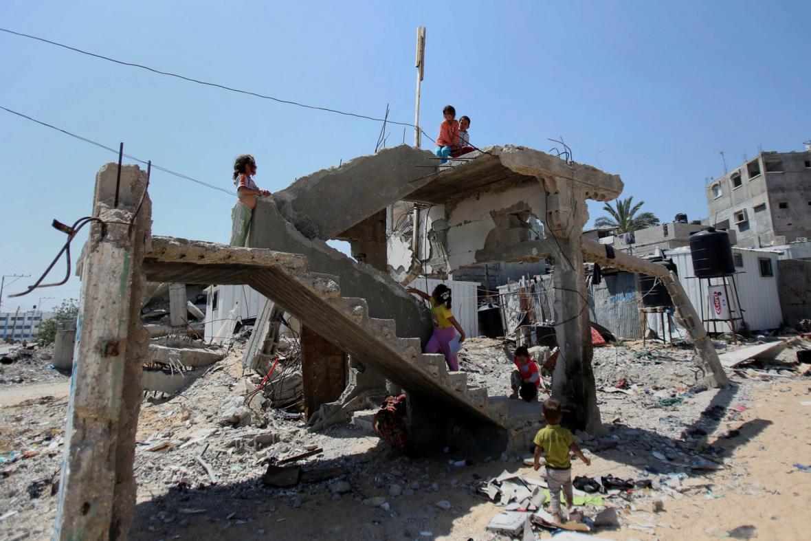 Zničená Gaza